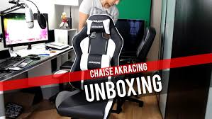 chaise de bureau racing unboxing et test ak racing nitro chaise siège fauteuil gaming e