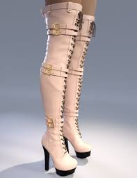 s high boots natalie high boots for genesis 3 s 3d models for poser