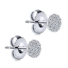 diamond cluster earrings diamond cluster earrings everyday earrings freedman jewelers
