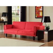 Mid Century Modern Convertible Sofa by Contemporary Mid Century Style Sofa Bed In Red Microfiber