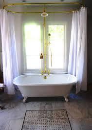 Clawed Bathtub Shower Curtain Rod For Clawfoot Bathtub Decor Ideasdecor Ideas