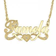 personalized jewlery diamond name necklace 86634 personalized jewelry