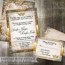 royal wedding invitation vintage fairytale royal wedding invitation and rsvp card digital
