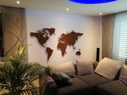 Wohnzimmer Konstanz Silvester Weltkarte Aus Edelstahl Wanddekoration Wandbild Stahl Metall