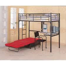 bunk beds twin workstation loft bunk bed with futon chair u0026 desk