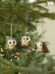 owl ornaments set of 3 for your christmas tree gardeners com
