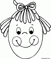 face coloring page coloring home