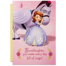 sofia the first and minimus musical birthday card for