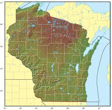 Map Of Wisconsin by Wisconsin Relief Map U2022 Mapsof Net