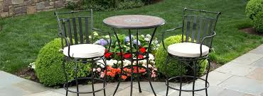 Balcony Height Patio Chairs Bar Height Bistro Set Outdoor Wrought Iron High Top Patio