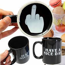 novelty coffee mugs discount 10oz novelty ceramic middle finger coffee cups