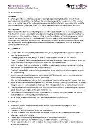 It Business Analyst Resume Sample by Download Agile Resume Haadyaooverbayresort Com