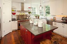 Red Kitchen Countertop - red kitchen island transitional kitchen benjamin moore