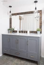 New Farmhouse Bathroom Light Fixtures Lighting Design Ideas Lake House Master Bath Makeover Lakes Bath And Easy Light