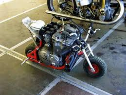 wow a 4 cylinder in a minibike frame absurd motorcycle stuff