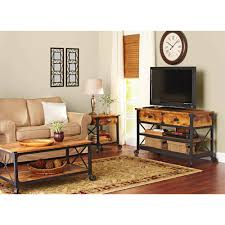 coffee tables astonishing black and brown rectangle rustic wood