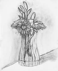 pencil sketch of flower vase archives pencil drawing collection