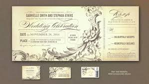 ticket wedding invitations read more vintage wedding tickets invitations with rsvp