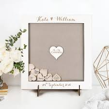 plain guest book alternative personalised plain back drop box oak white