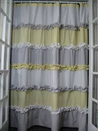 Grey And Yellow Shower Curtains Magnificent Grey And Yellow Shower Curtains Decorating With
