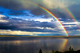 a time for reflection a rainbow of light looking back