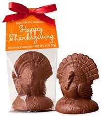 thanksgiving place setting solid milk chocolate turkey