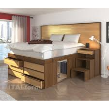 Platform Bed Drawers Storage Platform Bed Buy Impero Bed With 6 Drawers At Italform Design