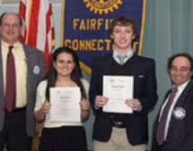 scholarships and recognition for students fairfield rotary club