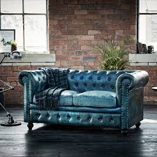 Green Leather Sofa by Green Leather Tilda Chesterfield Two Seater Sofa Brandalley