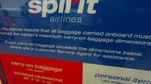 spirit baggage fees flying spirit airlines w osprey porter 46 backpack personal