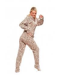 buy cheetah footie pajamas onesie for adults world s best pj s