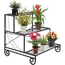 decorative flower best choice products 3 tier metal plant stand decorative planter