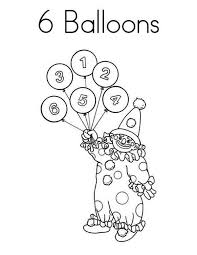 learn to count number 6 colouring page happy colouring