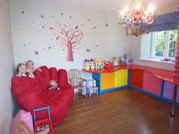 surprising kid bedroom decorating ideas with l shape table in red