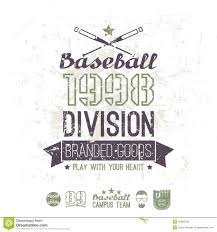 retro emblem baseball division of college stock vector image