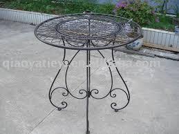 Garden Metal Decor Decor Wrought Iron Furniture Outdoor Table Metal Garden Modern
