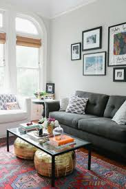 Gray Couch Decorating Ideas by Living Room Light Gray Walls Dark Couch Pops Of Color Best