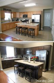 Staining Kitchen Cabinets Darker by 144 Best Cabinet Make Over Gel Stain Images On Pinterest
