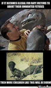 Kirk Meme - captain kirk s unwanted rape child by schizophrenicjaguar meme