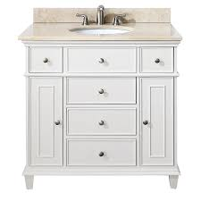 Bathroom Vanities 36 Inches Shop Avanity White Transitional Bathroom Vanity Common