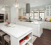 luxury kitchens with two islands kitchen traditional with tile