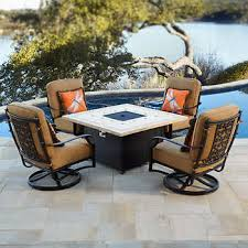 Patio Table With Built In Heater Fire Pits U0026 Chat Sets Costco