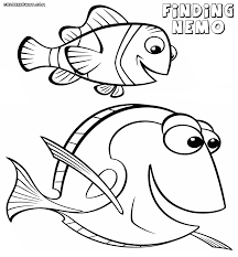 Finding Nemo Dory Coloring Pages Many Interesting Cliparts Nemo Color Pages