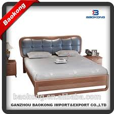 Wood Leather Headboard by New Design Solid Wood Frame Leather Headboard Double Bed Buy