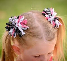 korker bows infant toddler pink black korker hairbow hair bow clip