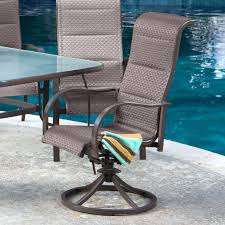 Swivel Patio Dining Chairs Biscayne Black Swivel Patio Dining Chairoutdoor Chairs Outdoor