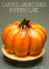 carved pumpkin cake ashlee