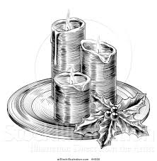 vector illustration of a black and white engraving of christmas