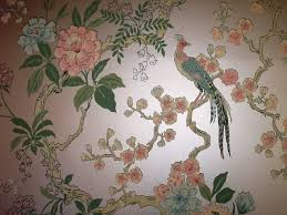 Pheasant Home Decor by Dining Room Pheasant Vintage Wallpaper Retro Renovation