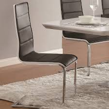 contemporary 7 piece white dining table set with upholstered